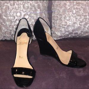Authentic Black Christian Louboutin sandals size 7